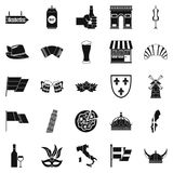 Old Europe icons set, simple style Royalty Free Stock Photo