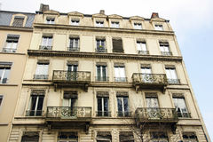 Old European apartments with balconies Royalty Free Stock Photos
