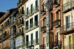 Old European Building Facades. Colorful old european building facades in the sunshine Stock Image