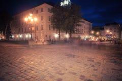 Old European city at night Royalty Free Stock Photo