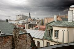 Old European cityscape Stock Photography