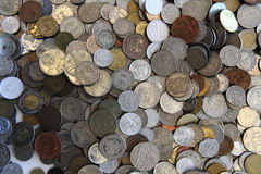 Old european coins as nice background Royalty Free Stock Image