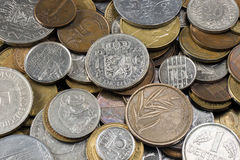 Old European coins Stock Photography