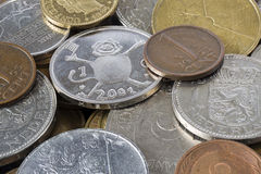 Old European coins Royalty Free Stock Photography