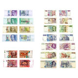 Old European currencies Stock Photos