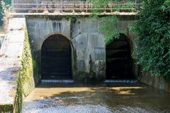 Old European damm gateway Royalty Free Stock Images
