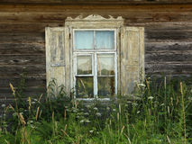 Old European farmhouse window Royalty Free Stock Photo