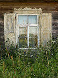 Old European farmhouse window Stock Photos