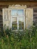 Old European farmhouse window Stock Photos