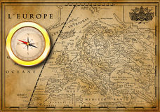 Old European map Royalty Free Stock Photos