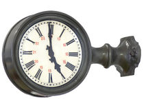 Old European Railroad Clock Royalty Free Stock Photos