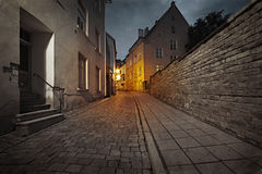 Old European street at night Stock Image