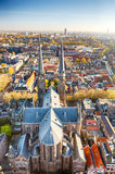 The old European town of Delft, Holland Royalty Free Stock Images