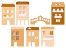 Old european town houses Royalty Free Stock Photography
