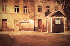 Old European town at night Royalty Free Stock Images
