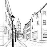 Old european town street. Royalty Free Stock Photography