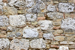 Old european wall from the Tuscany Royalty Free Stock Photography