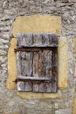 Old European Wood Window royalty free stock image