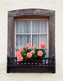 Old European Wooden Window Royalty Free Stock Images