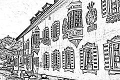 Old europen house vector illustration