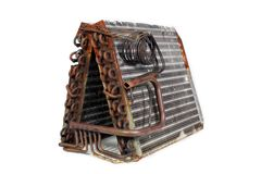 Old Evaporator Coil (5) Royalty Free Stock Photos