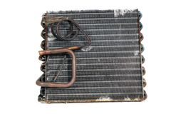 Old Evaporator Coil (6) Stock Photo