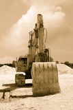 Old excavator Stock Image