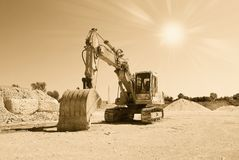 Old excavator Stock Photography
