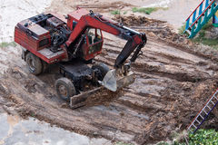 Old excavator Royalty Free Stock Image