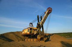 An old excavator Royalty Free Stock Photography