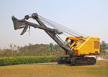 Old excavator for mining of limestone and gravel Stock Photos