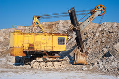 Old excavator at  open pit Stock Image