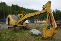 An old excavator used for mining jade. Royalty Free Stock Photography