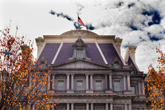 Old Executive Office Building Flag Washington DC Royalty Free Stock Image