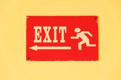 Old exit sign Royalty Free Stock Images