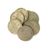 Old expired rubles with a monument to the Soviet soldier Royalty Free Stock Images