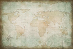 Old exploration and adventure map background Royalty Free Stock Photography