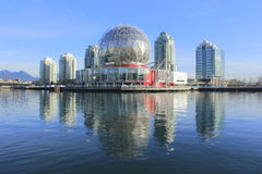 Old Expo Site. The last remaining remnant of Vancouver's 1986 World Exposition stands on the east end of False Creek Stock Photos