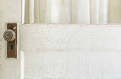 Old Exterior Door with Cracked Paint Stock Image