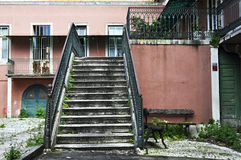 Old exterior staircase Stock Photo