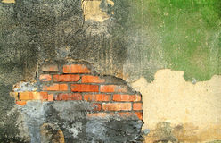 Old exterior wall of an abandoned factory Royalty Free Stock Photo