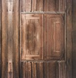 Wood window on wood wall. Old exterior wood window with wood wall exterior outdoor shot stock photography