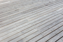 Old exterior wooden decking or flooring on the terrace Royalty Free Stock Photo