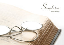 Old Eyeglasses And Bible Royalty Free Stock Images