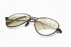 Old eyewear with the scratched glasses Royalty Free Stock Photography