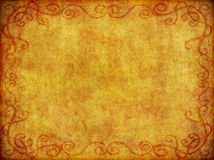 Old Fabric Background Texture. An old, weathered fabric like background with burned in border vector illustration