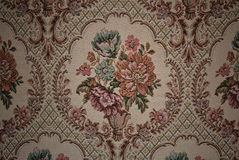 Old fabric floral Stock Images