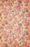 Old fabric with red rose Royalty Free Stock Photos