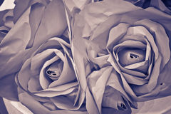 Old Fabric Roses Stock Image