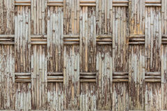 Old fabricate bamboo wall texture. Royalty Free Stock Image